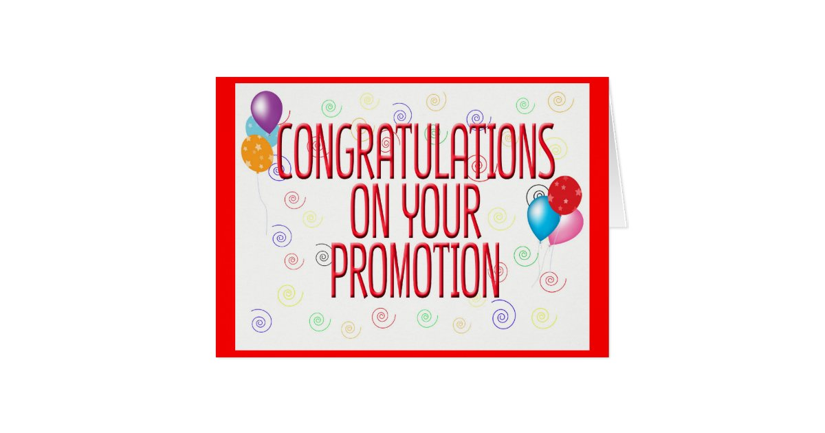 Congratulations On Your Promotion Card Zazzle Com