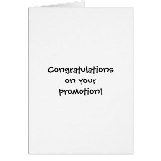 Congratulations on your promotion! greeting cards