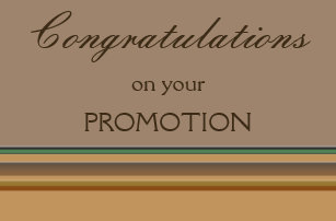 promotion congratulations cards zazzle