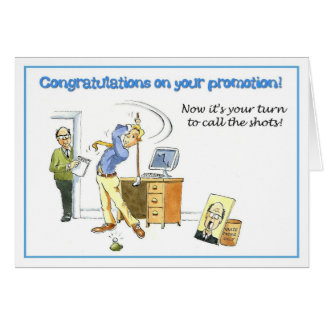 Congratulations on your promotion. greeting card