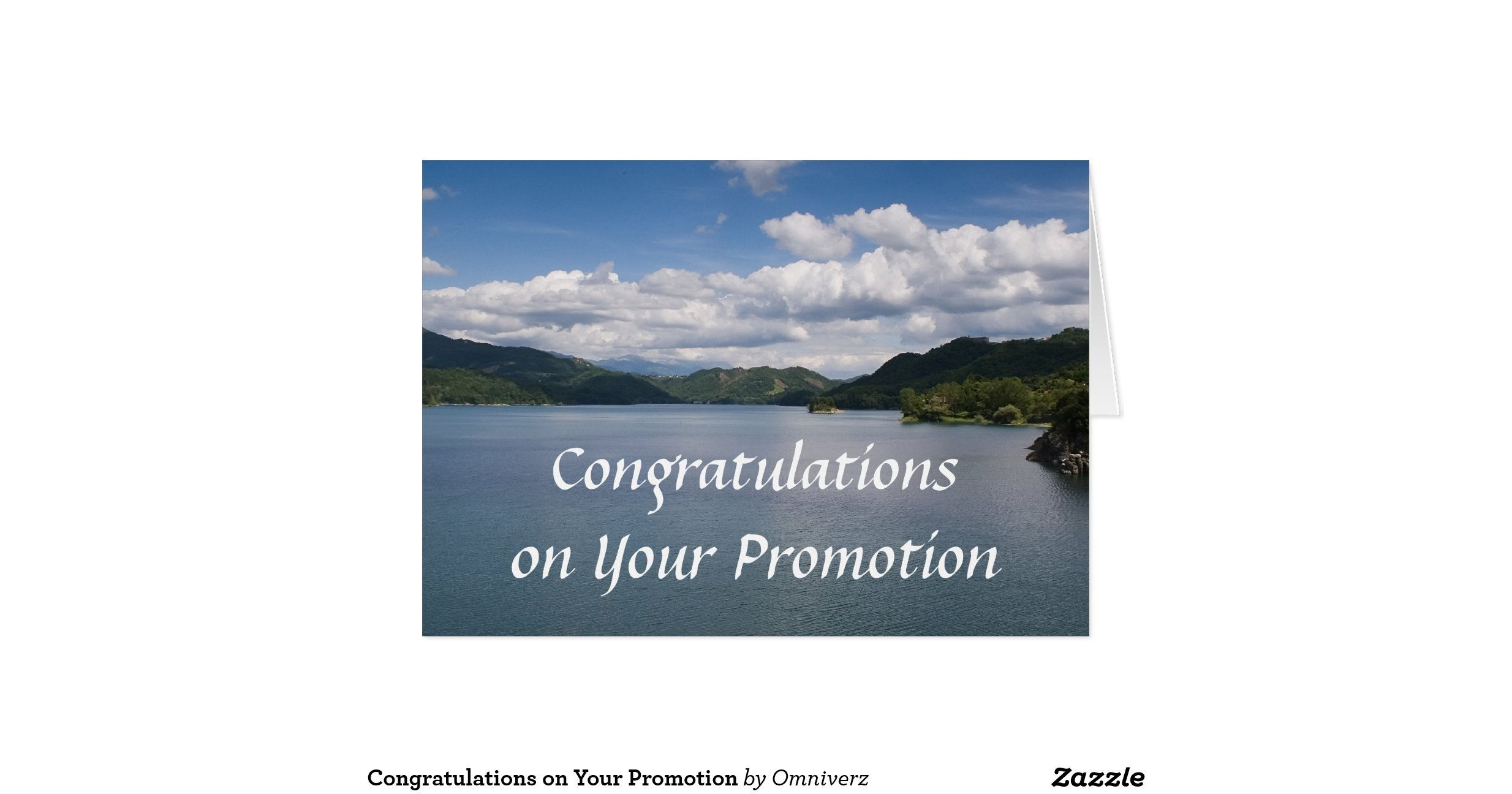 congratulations on promotion card