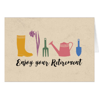 CONGRATULATIONS ON YOUR RETIREMENT | GARDENING CARD