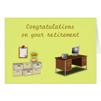 Congratulations on your retirement Office retire Card