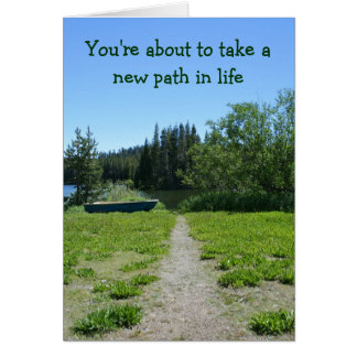 Congratulations on your retirement, Simple, Path Greeting Card