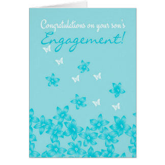 Congratulations on your son's engagement Floral Card