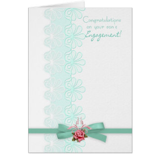 Congratulations on your son's engagement Lace Card