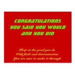 Congratulations on your success postcard