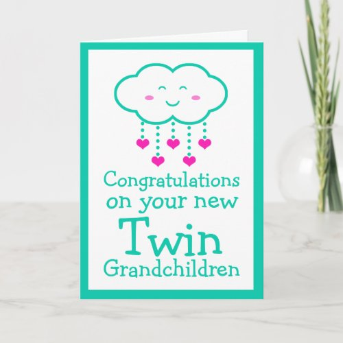 Congratulations on Your Twin Grandchildren Card