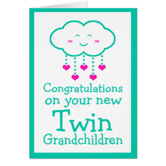 Congratulations on Your Twin Grandchildren Card