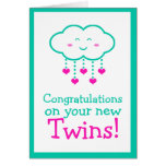 Congratulations on Your Twins Greeting Card
