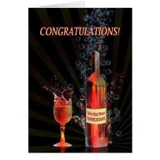 Congratulations on your vasectomy, splashing wine card