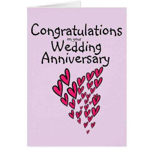 congratulations on your wedding anniversary card zazzle
