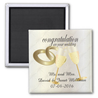 Congratulations on Your Wedding Day Magnet