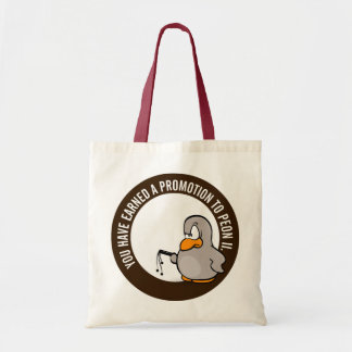 Congratulations on your well earned promotion budget tote bag