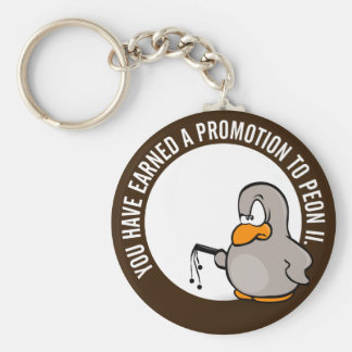 Congratulations on your well earned promotion basic round button keychain