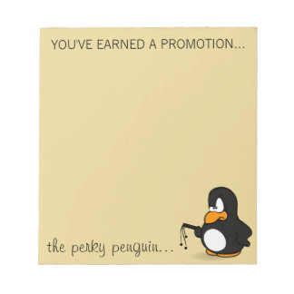 Congratulations on your well earned promotion notepad