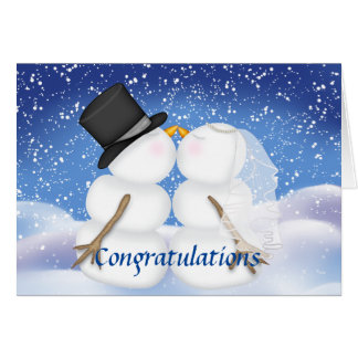 Congratulations on Your Winter Wedding Card