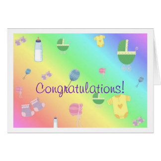 Congratulations or Invitation for Baby Shower