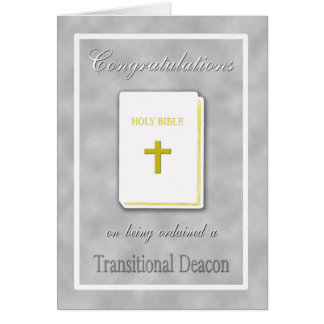 Congratulations Ordained Transitional Deacon Card