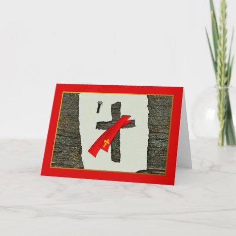 Congratulations, Ordination as Deacon, Cross, Nail Card