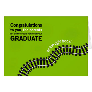 Congratulations Parents-Graduate on Right Track Card