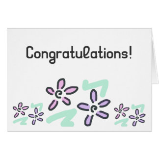 Congratulations! - Pastel Flowers Greeting Card