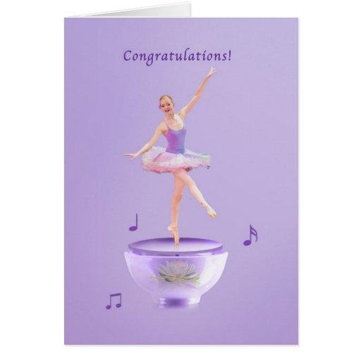 Congratulations, Performance, Music Box Ballerina Cards