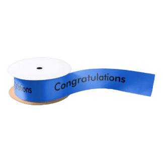 Congratulations - Personalized Satin Ribbon