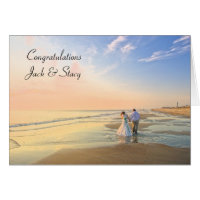 Congratulations Personalized Wedding Card
