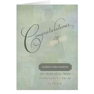 Congratulations Pharmaceutical Graduate with Name Card