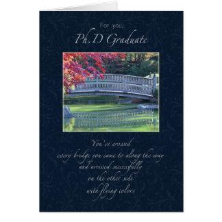 Congratulations Phd Graduate Card