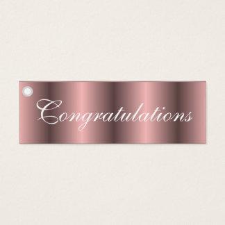 Congratulations pink gift tag