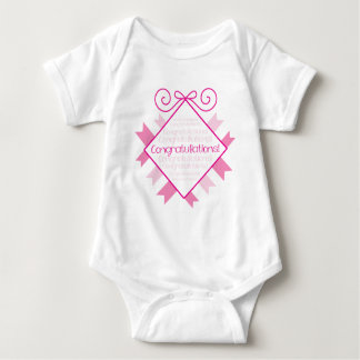 Congratulations! pink square infant creeper