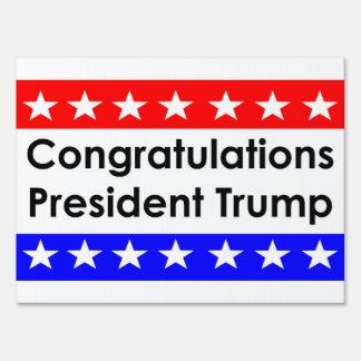 Congratulations President Trump Lawn Sign