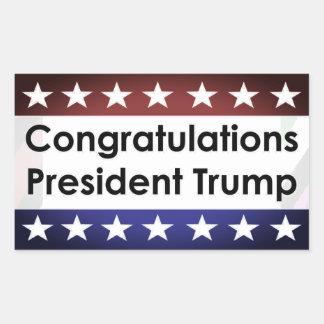 Congratulations President Trump Rectangular Sticker