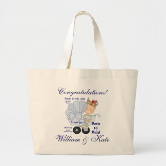Congratulations/Prince George-William & Kate Large Tote Bag