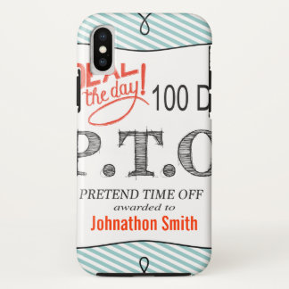 Congratulations  Promoted to Pretend Time Off iPhone X Case