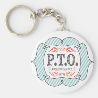 Congratulations  Promoted to Pretend Time Off Keychain