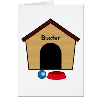 Congratulations Puppy Dog House Name Customizable Card