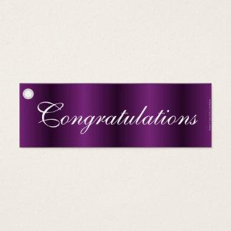 Congratulations purple gift tag