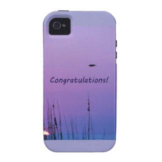 Congratulations purple sunset Case-Mate iPhone 4 case