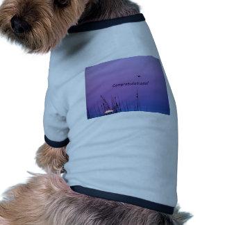 Congratulations purple sunset dog shirt