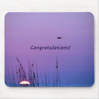 Congratulations purple sunset mouse pads
