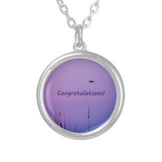 Congratulations purple sunset custom necklace