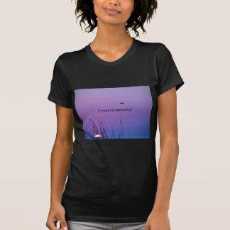 Congratulations purple sunset t-shirt