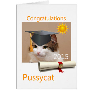 Congratulations, Pussycat Greeting Card