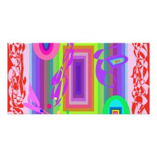 Congratulations Rainbow Colored Customized Photo Card