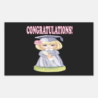 Congratulations Rectangular Sticker