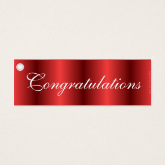 Congratulations red gift tag