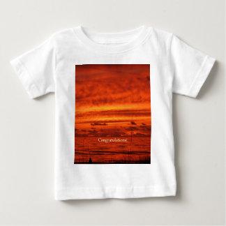 Congratulations Red Orange Firey Beach Sunset T Shirt